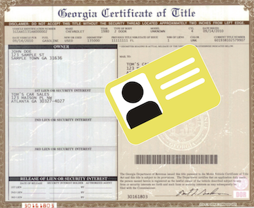 Clear title and driver's license