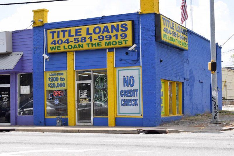 atlanta title loans storefront