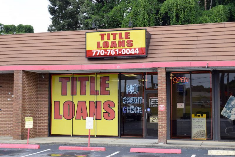 title loans conyers ga storefront