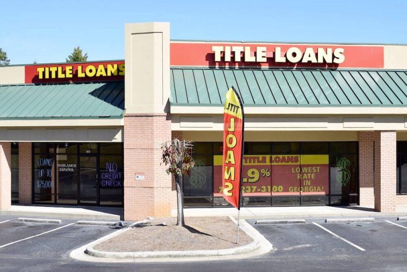title loans lawrenceville ga storefront