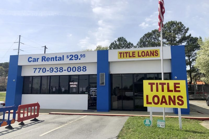 title loans norcross ga storefront